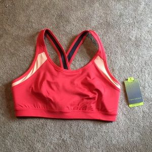 NWT coral colored sports bra